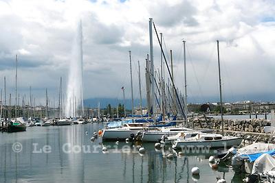 Genève, le 15.05.2007.Rade de Genève, jet d'eau..© J.-P. Di Silvestro..
