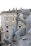 the fountain of piazza navona rome, italy is beautiful. it expresses the 4 big rivers of the world