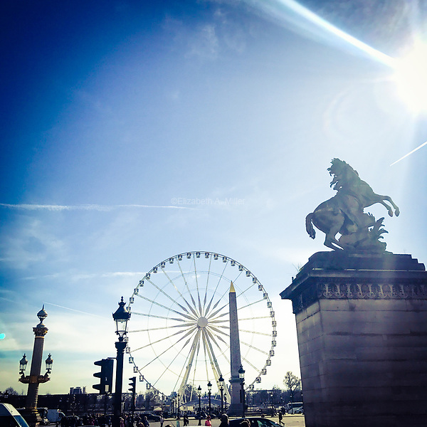 The Big Wheel at Place de la Concorde in Paris, France on March 11, 2017.