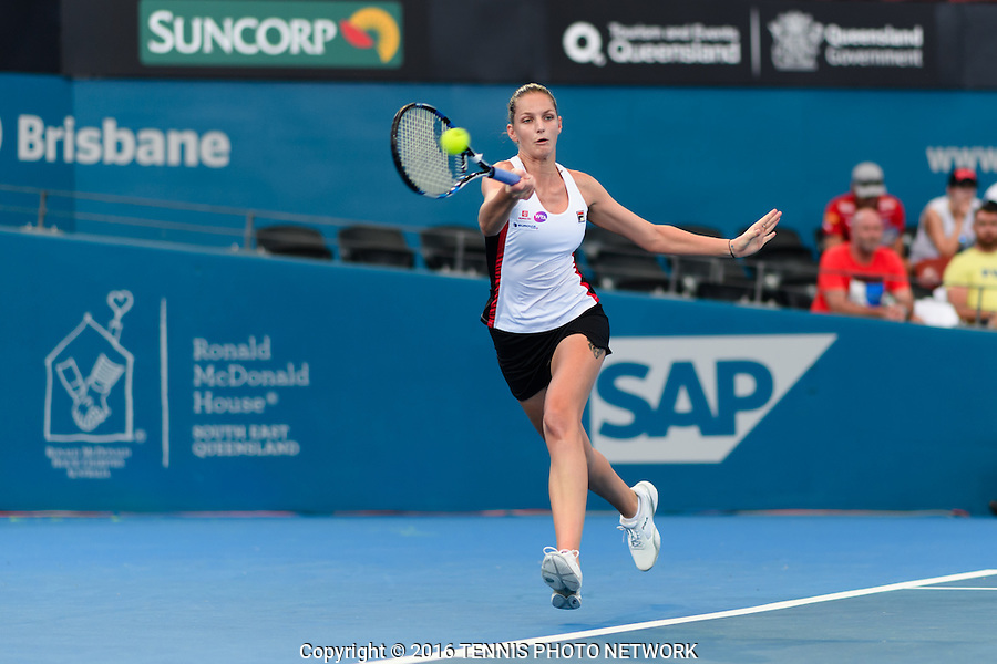 KAROLINA PLISKOVA of CZECH REPUBLIC (CZE) <br /> <br /> 2017 BRISBANE INTERNATIONAL, PAT RAFTER ARENA, BRISBANE TENNIS CENTRE, BRISBANE, QUEENSLAND, AUSTRALIA<br /> <br /> &copy; TENNIS PHOTO NETWORK