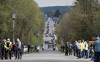 peloton cruising through the Ardennes<br /> <br /> 103rd Li&egrave;ge-Bastogne-Li&egrave;ge 2017 (1.UWT)<br /> One Day Race: Li&egrave;ge &rsaquo; Ans (258km)
