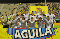 BARRANCABERMEJA- COLOMBIA -10-07-2015: Los jugadores de Uniautonoma posan para una durante partido Alianza Petrolera y Uniautonoma, por la fecha 1 por la Liga Aguila II 2015 en el estadio Daniel Villa Zapata en la ciudad de Barrancabermeja. / The players of Uniautonoma pose for a photo, during a match Alianza Petrolera and Uniautonoma, for date 1 of the Liga Aguila II 2015 at the Daniel Villa Zapata stadium in Barrancabermeja city. Photo: VizzorImage  / Jose D Martinez / Cont.