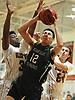 Tim Carr, Jr. #12 of Harborfields drives to the net during a non-league varsity boys basketball game against host Glen Cove High School on Tuesday, Dec. 5, 2017. Harborfields won by a score of 65-57.