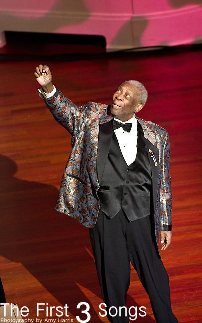 B.B. King performs at The Palladium in Carmel, Indiana.