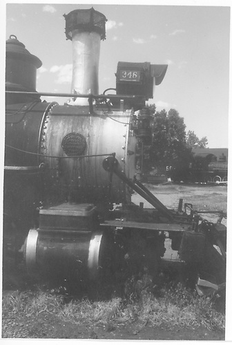 Engineer's-side view of smokebox area of D&amp;RGW #346 at Colorado Railroad Museum.<br /> D&amp;RGW  Golden, CO