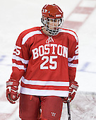 Nick Dougherty (BU - 25) - The Boston College Eagles defeated the visiting Boston University Terriers 6-2 in ACHA play on Sunday, December 4, 2011, at Kelley Rink in Conte Forum in Chestnut Hill, Massachusetts.