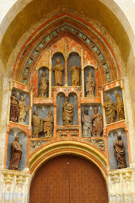 14th century Portal of St Marks Church  (Crkva sv. Marka) with sculptors by the Parler family, Zagreb, Croatia