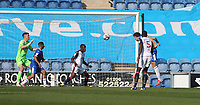 Colchester United's Tom Eastman scores his side's first goal  <br /> <br /> Photographer Rob Newell/CameraSport<br /> <br /> The EFL Sky Bet League Two - Colchester United v Bolton Wanderers - Saturday 19th September 2020 - Colchester Community Stadium - Colchester<br /> <br /> World Copyright © 2020 CameraSport. All rights reserved. 43 Linden Ave. Countesthorpe. Leicester. England. LE8 5PG - Tel: +44 (0) 116 277 4147 - admin@camerasport.com - www.camerasport.com