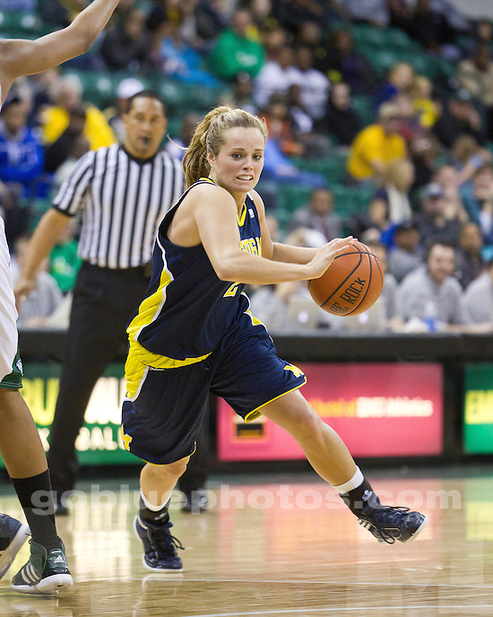 The University of Michigan women's basketball team fell to Eastern Michigan University 77-64 at the Convocation Center in Ypsilanti, Mich., on December 11, 2011.