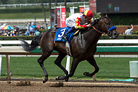 ARCADIA, CA  APRIL 7:  #3 Heck Yeah, ridden by Mike Smith, in the stretch of the Echo Eddie Stakes on April 7, 2018 at Santa Anita Park Arcadia, CA.(Photo by Casey Phillips/ Eclipse Sportswire/ Getty Images)