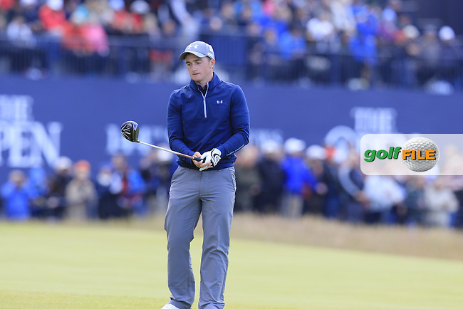 Paul DUNNE (AM)(IRL) prepares to tee off the 18th tee during Sunday's Round 3 of the 144th Open Championship, St Andrews Old Course, St Andrews, Fife, Scotland. 19/07/2015.<br /> Picture Eoin Clarke, www.golffile.ie