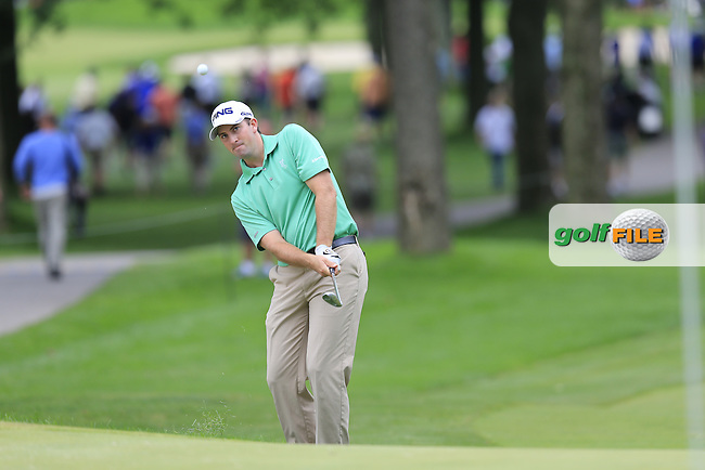Michael Thompson (USA) chips onto the 13th green during Friday's Round 1 of the 2013 Bridgestone Invitational WGC tournament held at the Firestone Country Club, Akron, Ohio. 2nd August 2013.<br /> Picture: Eoin Clarke www.golffile.ie