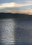 A sun dog over the Lake Tahoe in California.