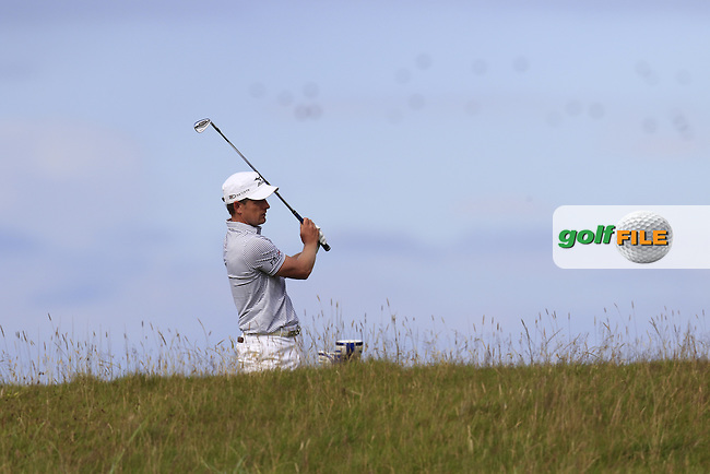 Luke Donald (ENG) in the rough on the 14th hole during Sunday's Round 3 of the 144th Open Championship, St Andrews Old Course, St Andrews, Fife, Scotland. 19/07/2015.<br /> Picture Eoin Clarke, www.golffile.ie