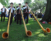 New Glarus Brewery provides Alp horn entertainment at the Great Taste of the Midwest Beer Festival