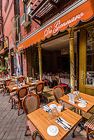 Outdoor dining, Little Italy, New York, New York USA.
