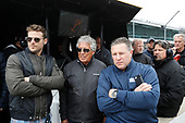 Verizon IndyCar Series<br /> Fernando Alonso Test for Indianapolis 500<br /> Indianapolis Motor Speedway, Indianapolis, IN USA<br /> Wednesday 3 May 2017<br /> Marco and Mario Andretti and Zak Brown<br /> World Copyright: Michael L. Levitt<br /> LAT Images