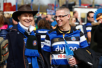 A general view of supporters enjoying the pre-match atmosphere. The Clash, Aviva Premiership match, between Bath Rugby and Leicester Tigers on April 7, 2018 at Twickenham Stadium in London, England. Photo by: Matt Impey / Wired Photos for Onside Images