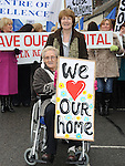 Eileen Harmon and Theresa Reilly who took part in the Save St Joseph's hospital march. Photo: Colin Bell/pressphotos.ie