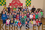 Colm Cooper pictured with the children from Kilcummin who received certificates and football gear in the GAA Clubhouse on Friday night, after they attended the Easter Coaching Camp........