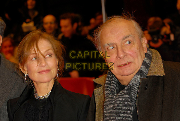 "ISABELLE HUPPERT & CLAUDE CHABROL.Premiere of ""Comedy of Power"" at the 56th Berlin (Berlinale) Film Festival, Berlin, Germany..February 16th, 2006.Ref: KRA.headshot portrait.www.capitalpictures.com.sales@capitalpictures.com.©Capital Pictures"