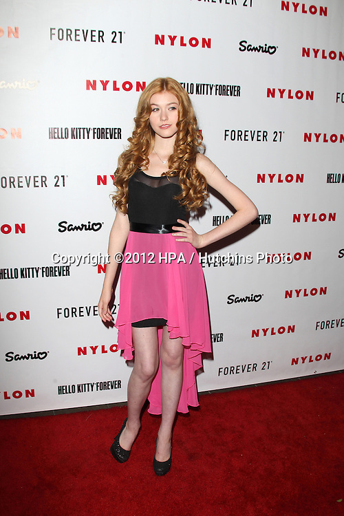 LOS ANGELES - OCT 15:  Katherine McNamara arrives at  Nylon's October IT Issue party at London West Hollywood on October 15, 2012 in Los Angeles, CA