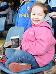 Ardee Celtic fan Rachel Woods at the Drogheda and District schoolboys cup finals in Hunky Dorys park. Photo: Colin Bell/pressphotos.ie