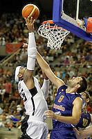 Spain's Felipe Reyes (r) and USA's Carmelo Anthony during friendly match.July 24,2012. (ALTERPHOTOS/Acero) /NortePhoto.com<br /> **CREDITO*OBLIGATORIO** *No*Venta*A*Terceros*<br /> *No*Sale*So*third* ***No*Se*Permite*Hacer Archivo***No*Sale*So*third*©Imagenes*con derechos*de*autor©todos*reservados*.