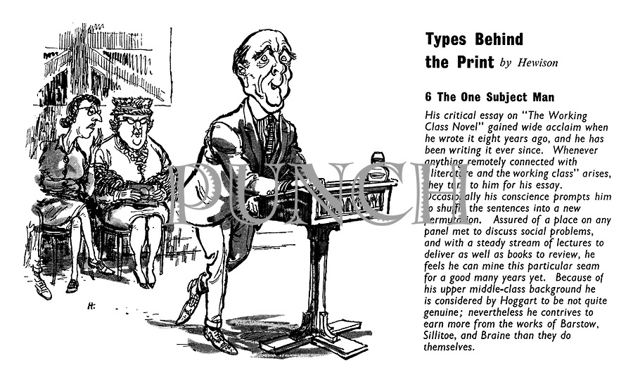 Types Behind the Print. 6. The One Subject Man