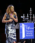 Hailey Kilgore during the 74th Annual Theatre World Awards at Circle in the Square on June 4, 2018 in New York City.