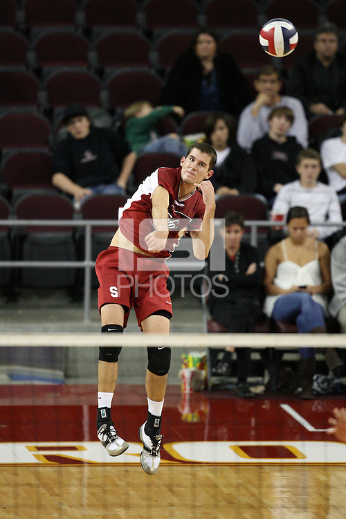 LOS ANGELES, CA - JANUARY 23:  Brad Lawson of the Stanford Cardinal during Stanford's 3-0 loss to the USC Trojans on January 23, 2009 at the Galen Center in Los Angeles, California.