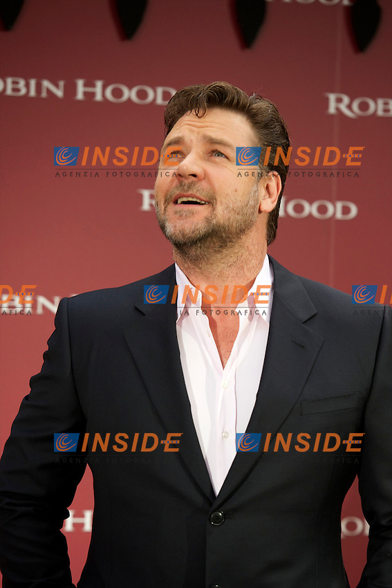 Australian actor Rusell Crowe attends Robin Hood Photocall at Villamagna Hotel in Madrid..Photo: Billy Chapel / ALFAQUI .Foto Insidefoto