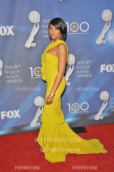 Taraji P. Henson at the 40th NAACP Image Awards at the Shrine Auditorium, Los Angeles..February 12, 2009 Los Angeles, CA.Picture: Paul Smith / Featureflash