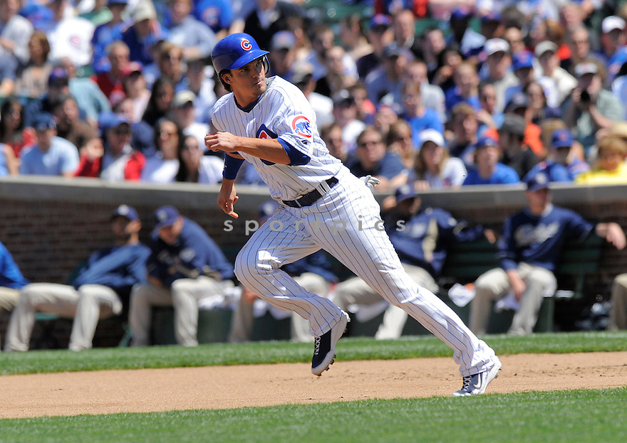 RYAN THERIOT, of the Chicago Cubs in action during the Cubs game against the San Diego Padres on May 14, 2009 in Chicago, IL. The Cubs  beat the Padres 11-3.....