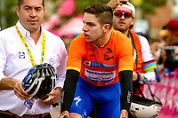 LLANOGRANDE - COLOMBIA, 14-02-2019: Alvaro Hodeg (COL), equipo Deceuninck - Quick Step Floors, durante la tercera etapa del Tour Colombia 2.1 2019 con un recorrido de 167.6 Km, que se corrió en un circuito con salida y llegada en el Complex Llanogrande. / Alvaro Hodeg (COL), Deceuninck - Quick Step Floors team, during the third stage of the Tour Colombia 2.1 2019 with a distance of 167.6 km, which was run on a circuit with start and finish at the Complex Llanogrande. Photo: VizzorImage / Anderson Bonilla / Cont.