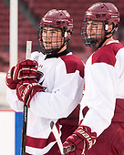 Michael Kim (BC - 4), Scott Savage (BC - 2) - The Boston College Eagles practiced at Fenway on Friday, January 6, 2017, in Boston, Massachusetts.