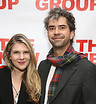 "Lily Rabe and Hamish Linklater attends The New Group presents the New York Premiere Opening Night of David Rabe's for ""Good for Otto"" on March 8, 2018 at the Green Fig Urban Eatery,  in New York City."
