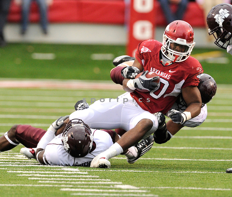 Arkansas Razorbacks Ronnie Wingo (20) in action during a game against Alabama on September 25, 2010 at Razorback Stadium in Fayetteville, AR. Alabama beat Arkansas 24-20.