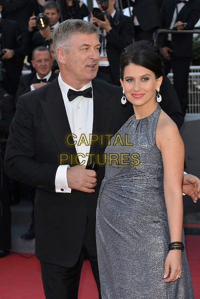 Alec Baldwin, Hilaria Thomas.'Blood Ties' premiere at the 66th  Cannes Film Festival, France..20th May 2013.half length black tuxedo grey gray dress married husband wife pregnant  .CAP/PL.©Phil Loftus/Capital Pictures.
