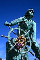 Beauty of New England Gloucester MA Famous Fisherman Statue.