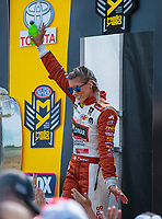 Jul 29, 2018; Sonoma, CA, USA; NHRA top fuel driver Leah Pritchett during the Sonoma Nationals at Sonoma Raceway. Mandatory Credit: Mark J. Rebilas-USA TODAY Sports