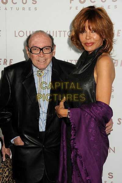 "MARVIN PAIGE & TESS VAN STANDEN.""Somewhere"" Los Angeles Premiere held at Arclight Cinemas, Hollywood, California, USA, .7th December 2010..half length black suit jacket glasses purple louis vuitton shawl wrap pashmina blue striped shirt .CAP/ADM/BP.©Byron Purvis/AdMedia/Capital Pictures."