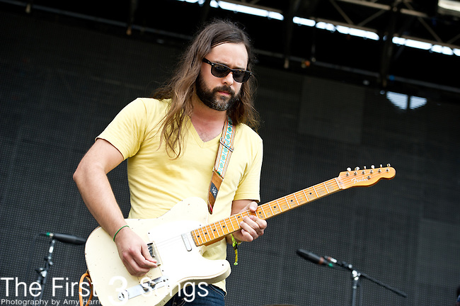 Curtis Roush of The Bright Light Social Hour performs during the All Good Music Festival at Legend Valley in Thornville, Ohio.