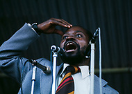 26 Jun 1975, Mozambique --- Speech of Samora Machel, commander-in-chief of the Front for the Liberation of Mozambique (FRELIMO). He became independent Mozambique's first president on June 25, 1975. | Location: Lourenco Marques, Mozambique. --- Image by © JP Laffont