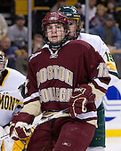 Ben Smith (BC - 12), Kevan Miller (Vermont - 15) - The Boston College Eagles defeated the University of Vermont Catamounts 4-0 in the Hockey East championship game on Saturday, March 22, 2008, at TD BankNorth Garden in Boston, Massachusetts.