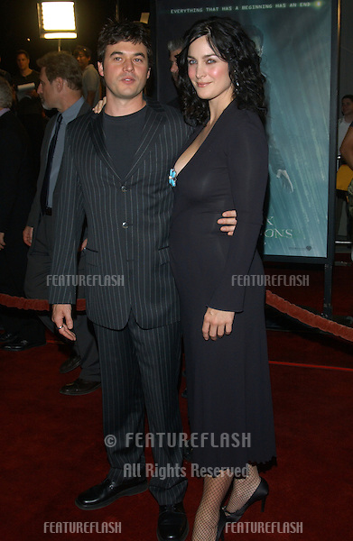 Actress CARRIE-ANNE MOSS & husband at the world premiere, in Los Angeles, of her new movie The Matrix Revolutions..October 27, 2003