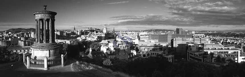 Edinburgh and Edinburgh Castle from Calton Hill, Edinburgh, Lothian