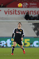 Jose Manuel Jurado of Watford during the Barclays Premier League match between Swansea City and Watford at the Liberty Stadium, Swansea on January 18 2016