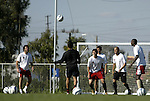 12 November 2004: DC United players (from left) Ben Olsen, Nick Rimando, Santino Quaranta, Jaime Moreno, Earnie Stewart, and Ezra Hendrickson. DC United held a team practice on the practice fields at the Home Depot Center in Carson, CA two days before they were scheduled to play the Kansas City Wizards in the MLS Cup 2004, Major League Soccer's championship game.