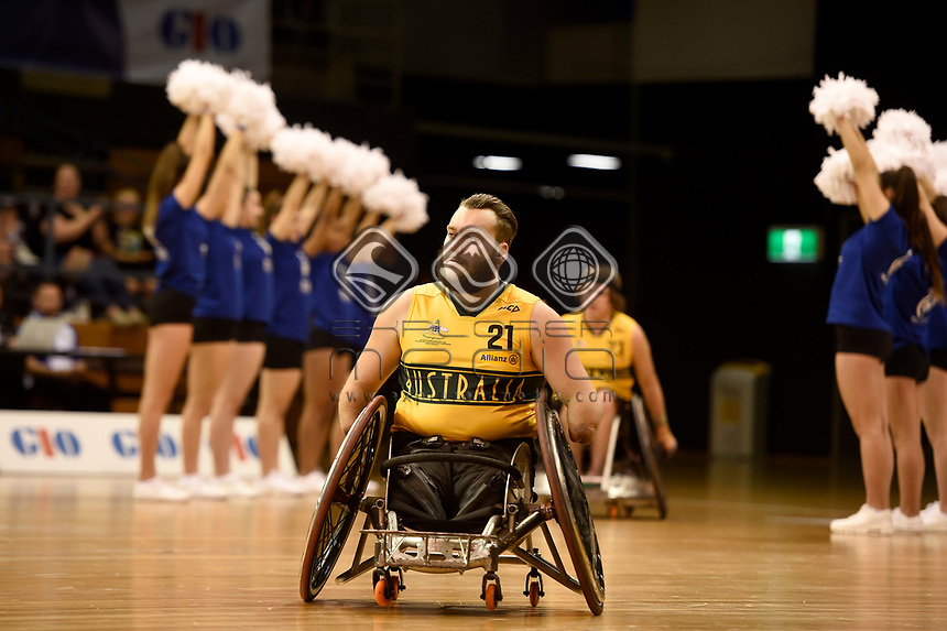 Opening Ceremony - Josh Nicholson (Aus)<br /> Australian Wheelchair Rugby Team<br /> 2018 IWRF WheelChair Rugby <br /> World Championship / Day 1<br /> Sydney  NSW Australia<br /> Sunday 5th August 2018<br /> © Sport the library / Jeff Crow / APC